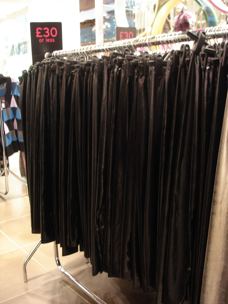 Oil slick at Topshop?  Half price wet look leggings