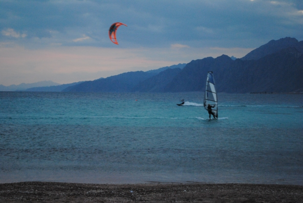 Kite surfing in Dahab