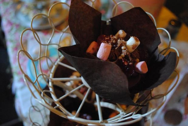 Rock Road cupcakes
