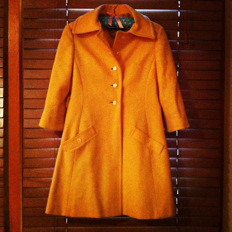 vintage yellow coat