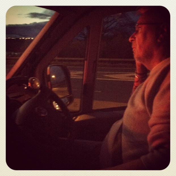 on the road: dad driving