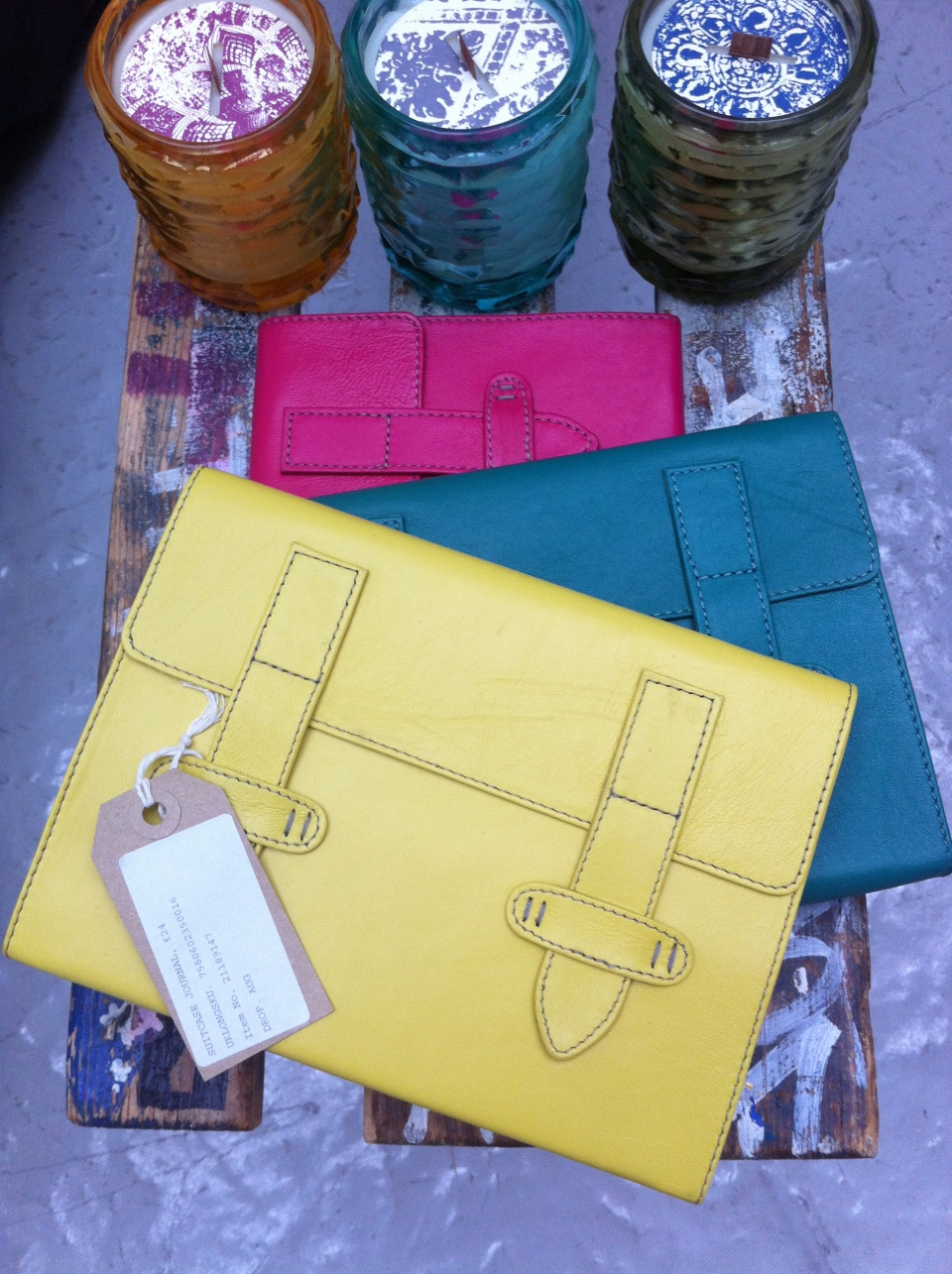 satchels, wallets, notebooks