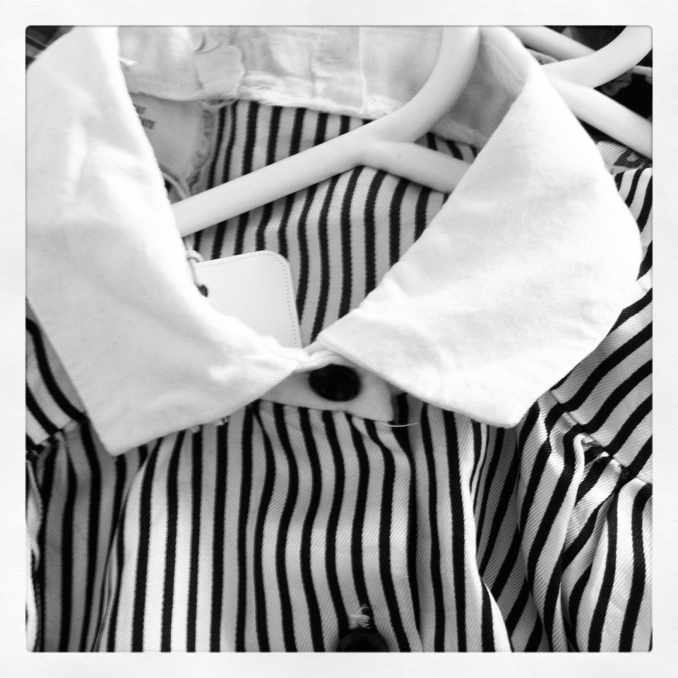 striped vintage dress