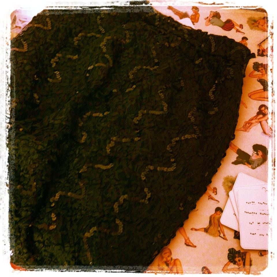 vintage sequin skirt