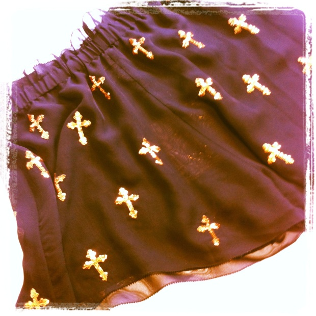 Wildfox cross embellished shorts