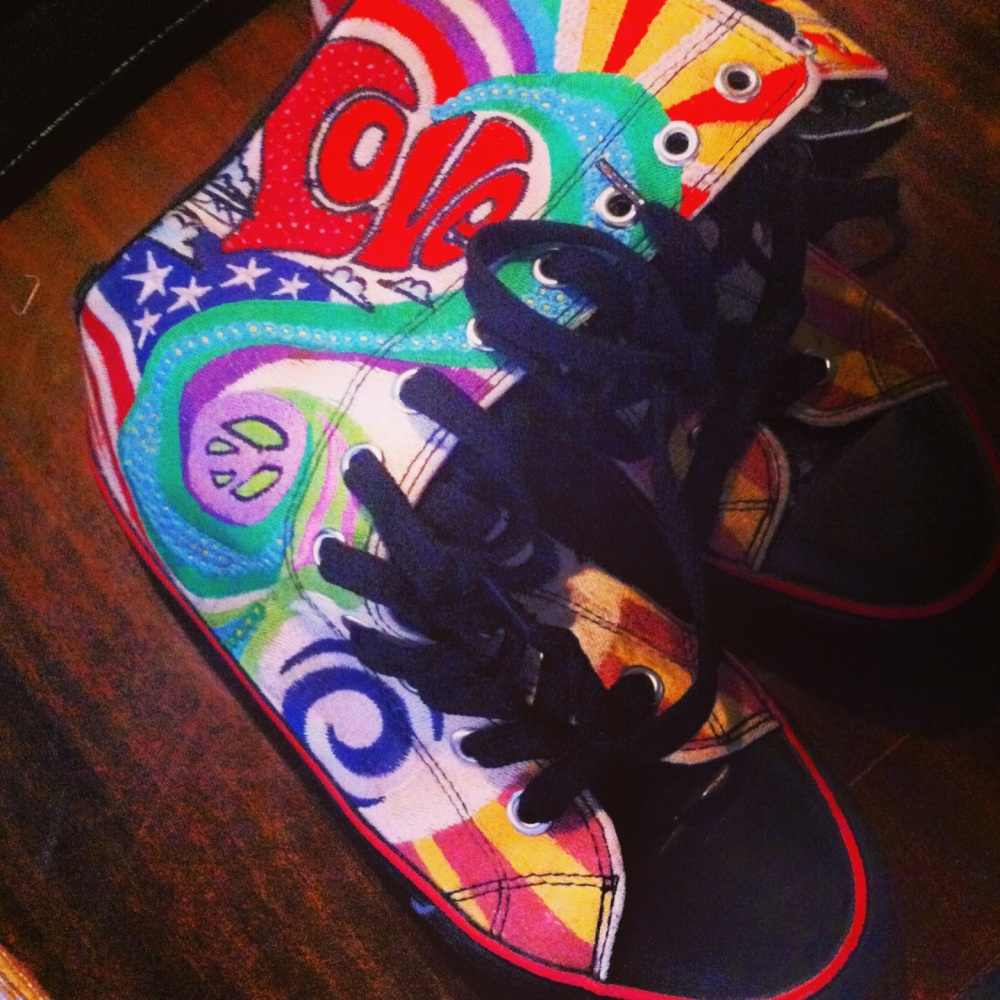 Technicolour boots, shredded denim and sunshine (1/6)